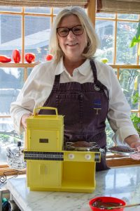 Julie Swift with Easy Bake Oven